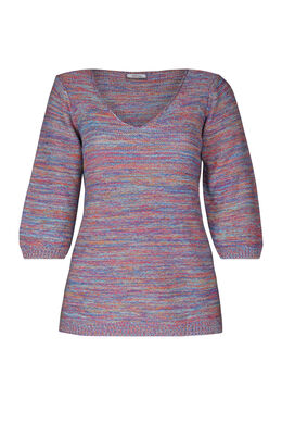 Pull rayure manches 3/4, multicolor