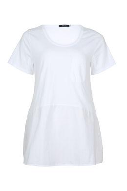 T-shirt mi-long, Blanc