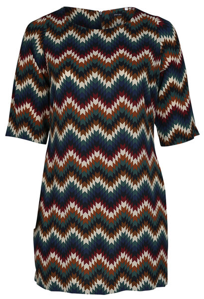 Robe housse imprimé géométrique - multicolor