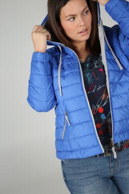 Doudoune légère à capuche, Bleu Bic