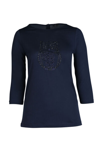 T-shirt hibou - Marine