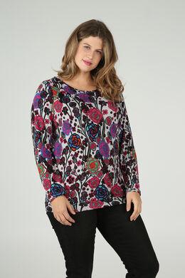 T-shirt imprimé fleuri, multicolor