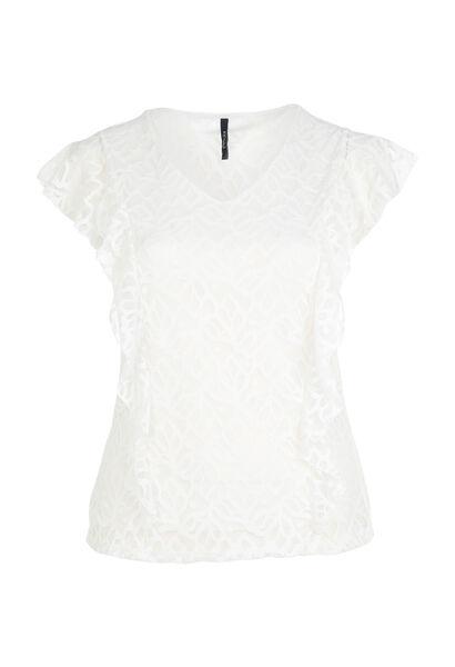 T-shirt en maille dentelle - Ecru