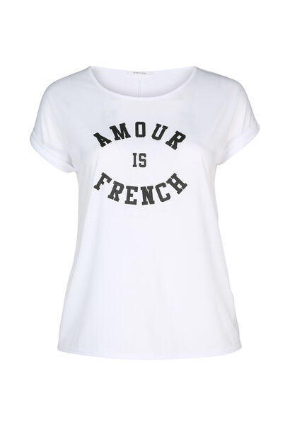 """T-shirt """"Amour is French"""" - Blanc"""