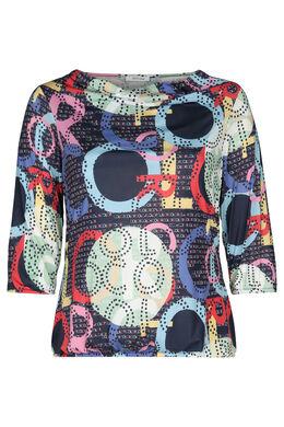T-shirt maille froide imprimé, multicolor
