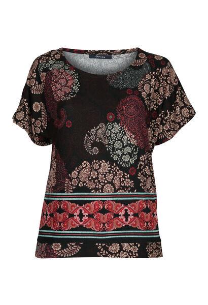 T-shirt en maille chaude - Prune