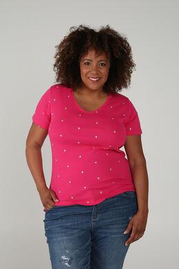 T-shirt coton biologique, Fushia