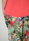 Pantalon imprimé tropical, multicolor
