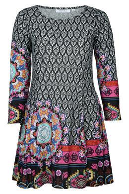 Robe en maille chaude imprimé, multicolor