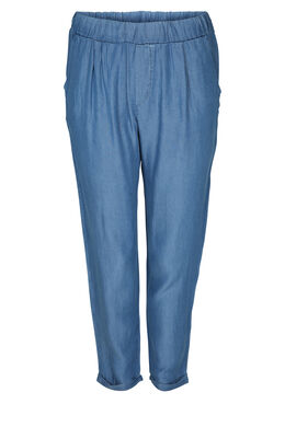 Pantacourt en lyocel jeans, Denim