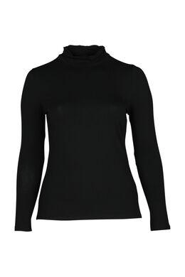 T-shirt col roulé, Noir