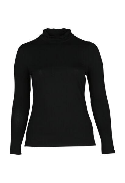 T-shirt col roulé - Noir