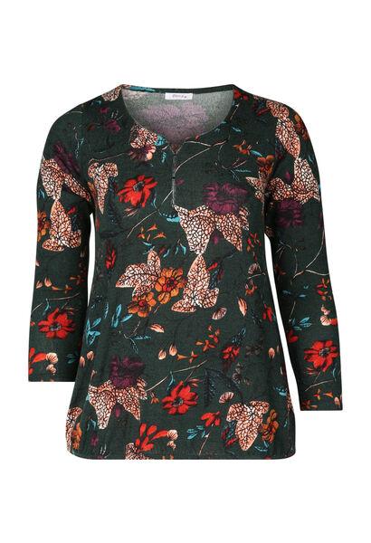 T-shirt imprimé fleuri - Vert