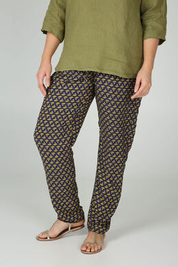 Pantalon imprimé ethnique, Vert Olive