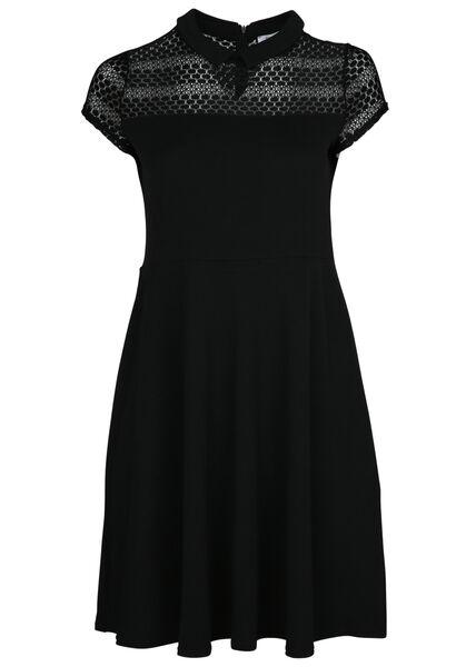 Robe col claudine - Noir