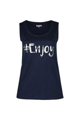 "T-shirt de nuit ""#Enjoy"", Marine"