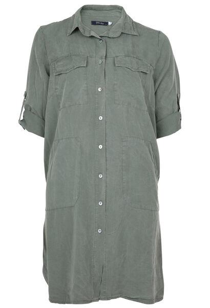 robe chemise en Tencel - Kaki-clair