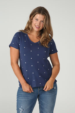 T-shirt coton biologique, Indigo