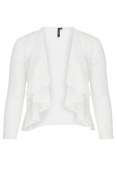 Cardigan en maille chaude - Blanc casse