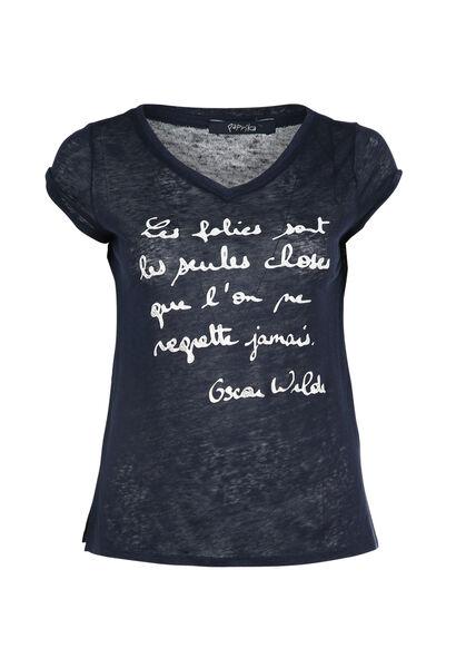 T-shirt avec un message - Marine