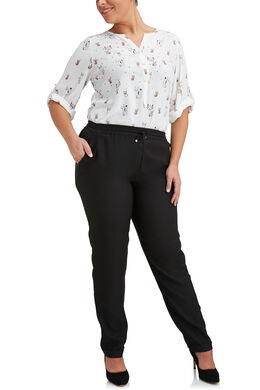 Pantalon souple en crêpe, Noir