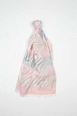 Foulard imprimé peaux de bêtes, Blush
