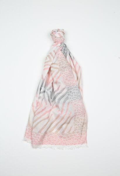 Foulard imprimé peaux de bêtes - Blush