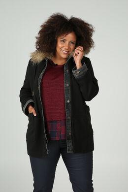 Manteau en lainage, Noir