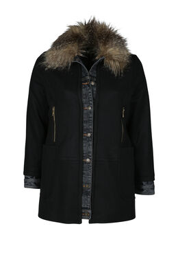 Manteau en lainage, Noir