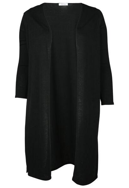 Long cardigan en maille chaude - Noir