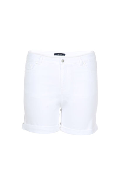 Short en coton - Blanc