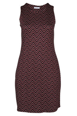Robe sans manches maille jacquard, Rouge