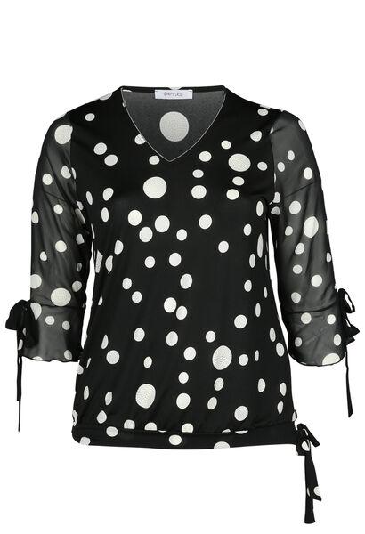 T-shirt imprimé ronds - Noir