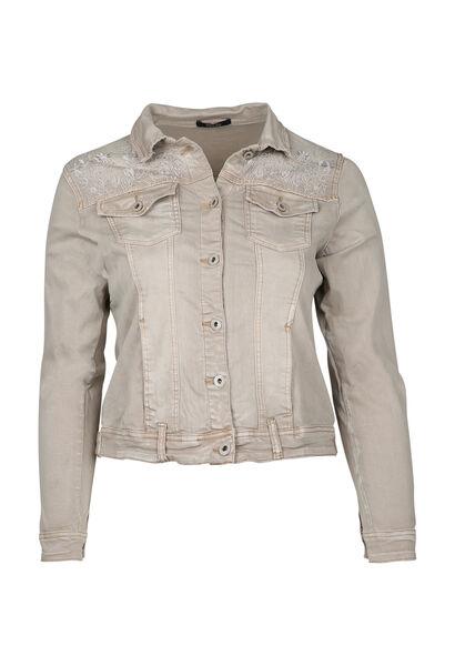 Veste effet jeans - Beige