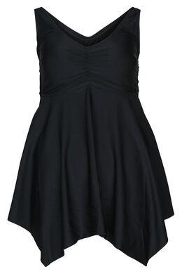 Maillot de bain robe uni, Noir