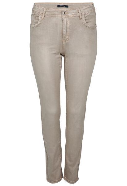 Pantalon slim broderie - Beige