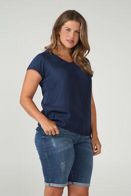T-shirt bi-matières, Marine