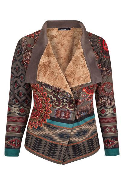 Veste suédine, imprimé mandala - multicolor