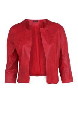 Veste en faux cuir, Rouge