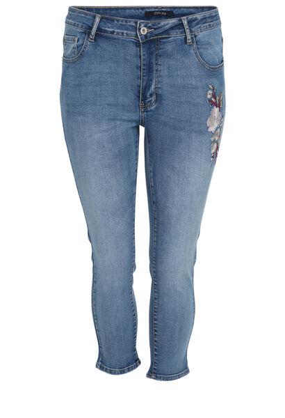 Jeans 3/4 sara brodé - Denim