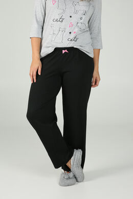 Pantalon de pyjama uni, Noir