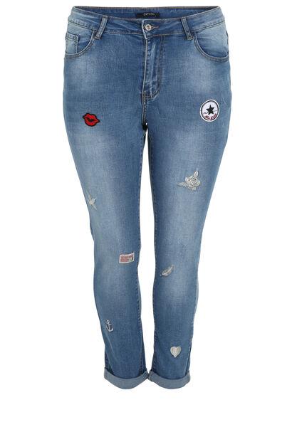 Jeans nina avec patches - Denim