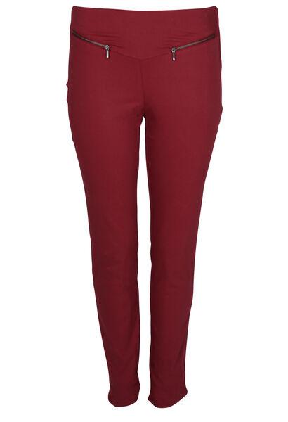 Pantalon bengaline zip - Bordeaux