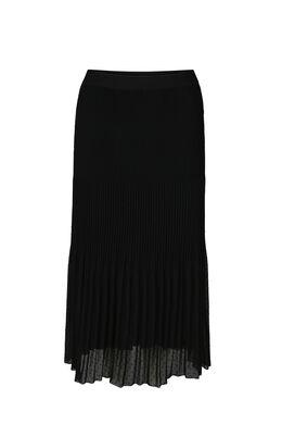 Longue jupe imprimée plumetis, Noir
