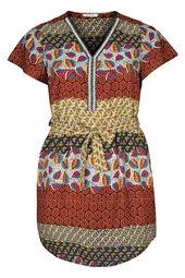 Robe tunique imprimé ethnique