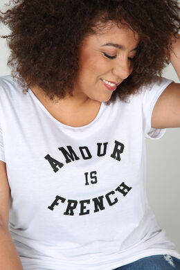 """T-shirt """"Amour is French"""", Blanc"""