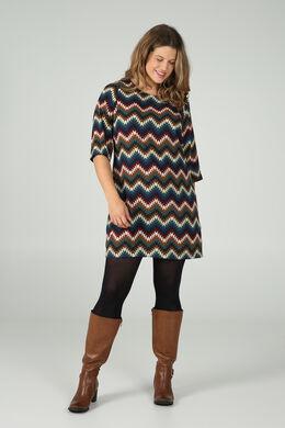 Robe housse imprimé géométrique, multicolor