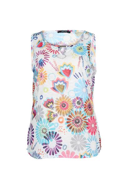 Top imprimé fleuri - multicolor