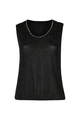 T-shirt maille lurex, Noir