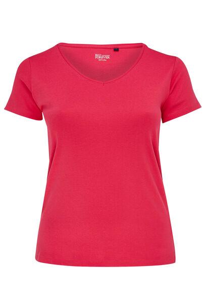 T-shirt basique en coton bio - Fushia